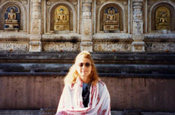 Guided Meditation Script - Photo of Rev. Dr. Nancy at Bodh Gaya, India from her private collection