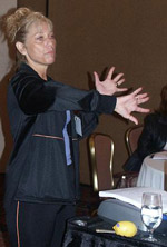 Rev Dr. Nancy teaching a 360 Workshop at New Mexico State Employees Conference (2007)