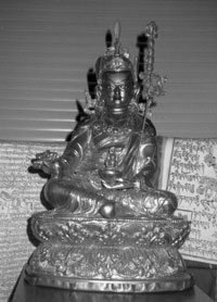 Five Tibetan Rites photo of Padmasambhava, founder of Tibetan Buddhism from Rev. Nancy's collection