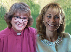 Alliance of Divine Love Reverend Doctors, Linda Marie Nelson (L); Nancy Ash (R)