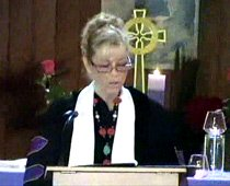 Rev Dr. Nancy Ash leads her fellow ministers in reciting the Oath of The Rose 2011