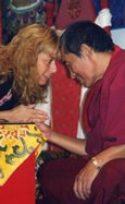 His Eminence, Khenchen Palden Sherab Rinpoche and The Rev. Nancy Ash from her private collection