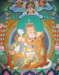 Basic beliefs of Buddhism, Padmasambhava, The Lotus Born Thangka from Rev Nancy's Collection