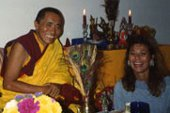 His Eminence, Khenchen Palden Sherab Rinpoche and The Rev. Nancy Ash (Florida) from her private collection