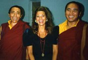 Khenchen Palden Sherab Rinpoche and The Rev. Nancy Ash with Khenpo Tsewang (right) from her private collection