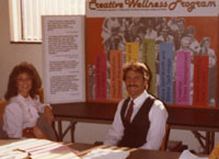 Rev Dr. Nancy at Creative Wellness Booth (from her private collection)