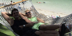 Stress Relief Gifts Photo from Rev Nancy's Collection. Laughter in a hammock reduces stress!