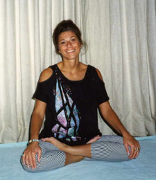 When Soul meets body - Your teacher/author in the 80s sits in yoga lotus pose - Rev. Nancy's private collection