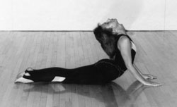 Cobra Pose, one of many hatha yoga poses from Rev. Nancy's collection