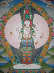 Gods of Buddhism Avolakiteshvara Photo from Rev Nancy's Thangka Collection